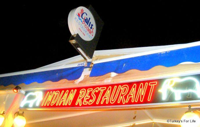 Calis Beach Restaurant, Indian
