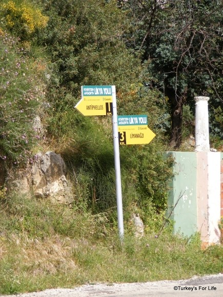 Lycian Way Markers, Kaş, Turkey