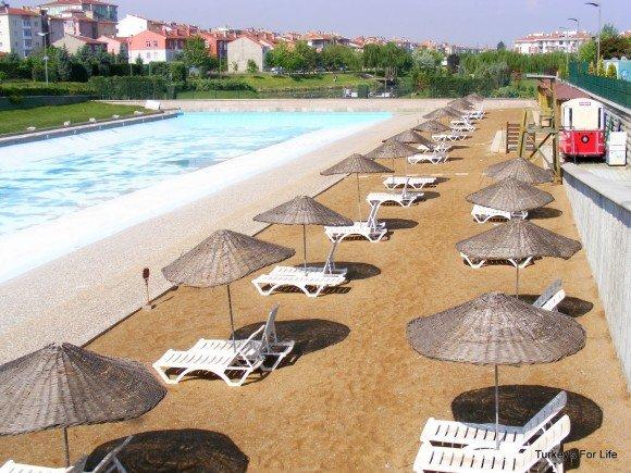 Man-made Beach & Pool, Kent Park, Eskişehir , Turkey