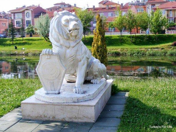 Lion Sculpture, Kent Park, Eskişehir