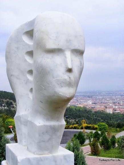 Head Sculpture, Şelale Park, Eskişehir, Turkey