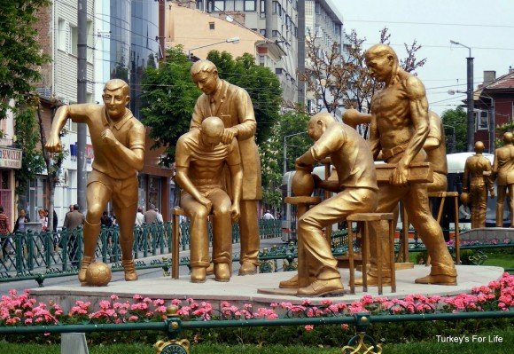 Gold Sculptures, Eskişehir, Turkey
