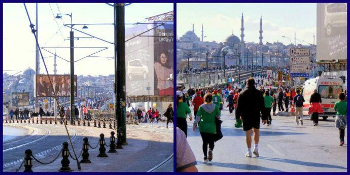 Istanbul Marathon Galata Bridge