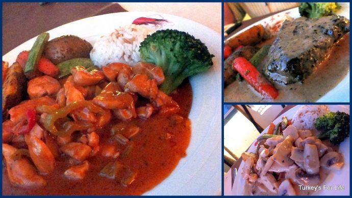 Food At Kings Garden Restaurant, Fethiye