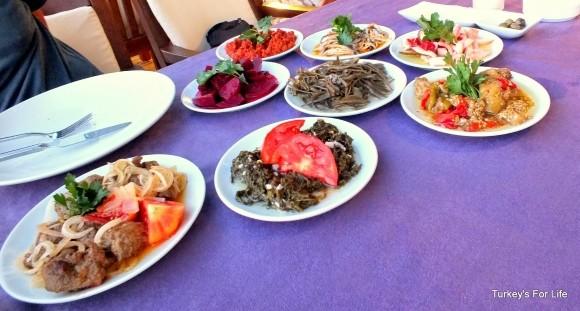 Turkish Meze Dishes, Aktaş Restaurant, Dalyan