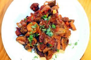 Çıntar Mushroom And Sucuk Recipe