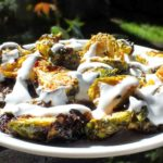 Roasted Brussels Sprouts With Yoghurt