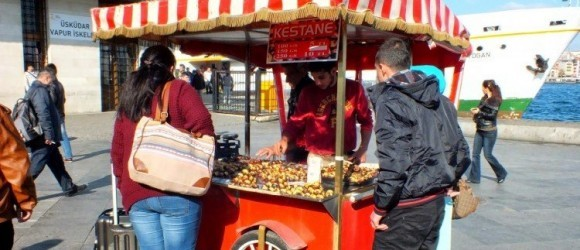 Turkish Street Food Kestane Chestnuts
