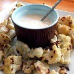 Roasted Cauliflower With Yoghurt Dip Recipe