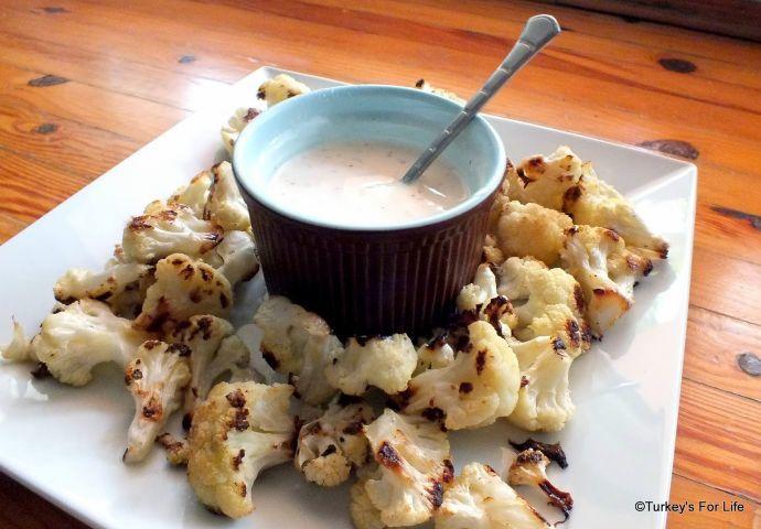 Turkish Roasted Cauliflower With Yoghurt