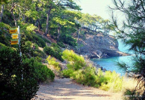 Lycian Way & Fethiye Footpath Signs, Kabak
