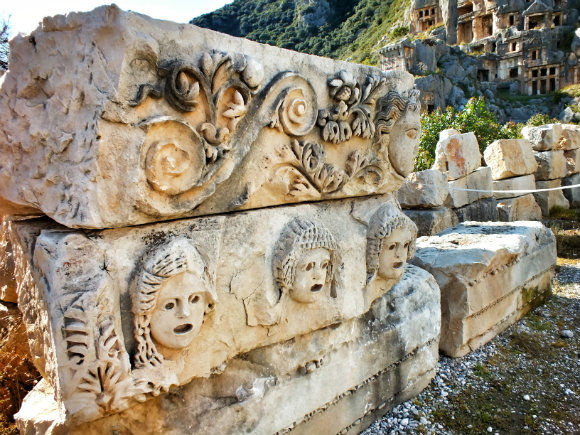 Lycian And Roman Ruins At Myra