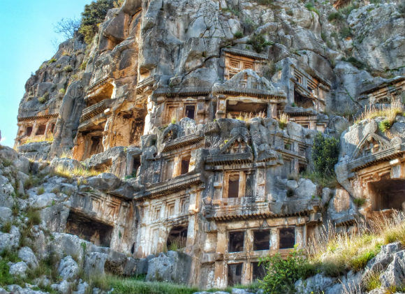 Myra Lycian Rock Tombs Demre