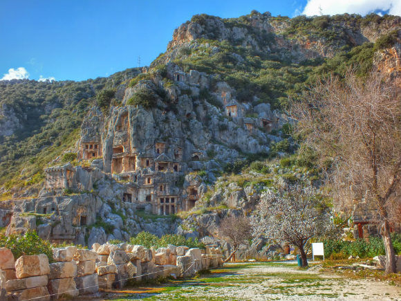 Myra Lycian Rock Tombs Demre Turkey