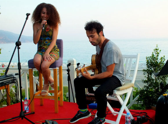 Elif Çağlar And Bilal Karaman At Buzz Beach Bar