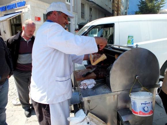 Kokoreç Being Prepared In Galata