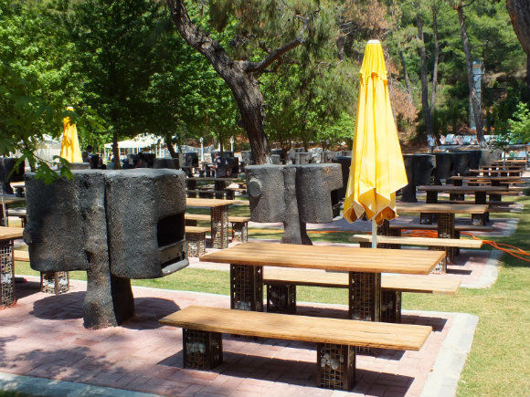 Barbecues At Kuleli Beach Park In Fethiye