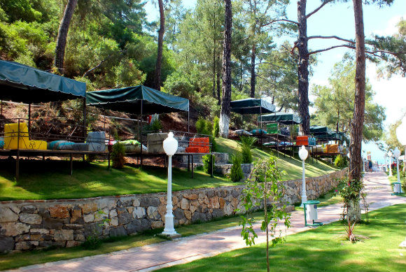 Cabanas At Kuleli Beach Club In Fethiye Turkey
