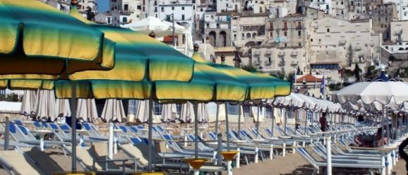 Sperlonga Beach And Town In Italy