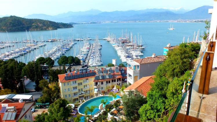 View Of Fethiye From El Camino Hostel And Pub