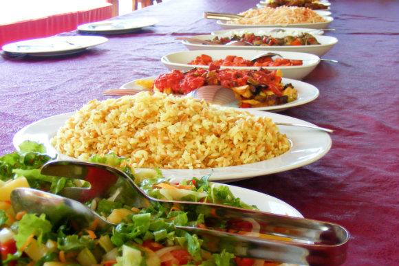Turkish Meze And Salad Dishes
