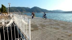 Walking Along Fethiye Harbour In Turkey
