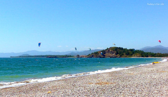 Kitesurfers At Zentara Beach