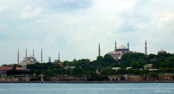 Hagia Sophia And The Blue Mosque From The Istanbul Ferry