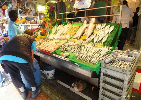 A Kadıköy Market Fish Stall