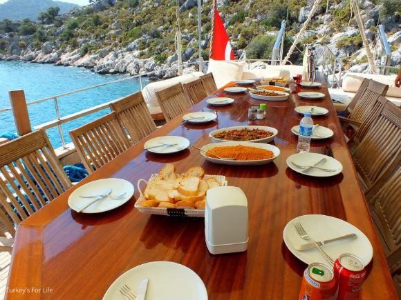 Food On A Gulet Cruise Cabin Charter