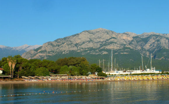 Kemer Beach On Our Turkish Gulet Cruise