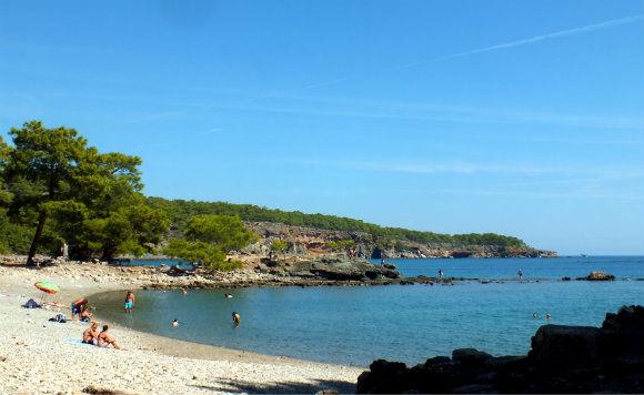 Phaselis Beach In Antalya, Turkey