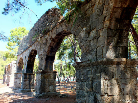 Roman Aqueduct Of The Phaselis Ruins In Kemer