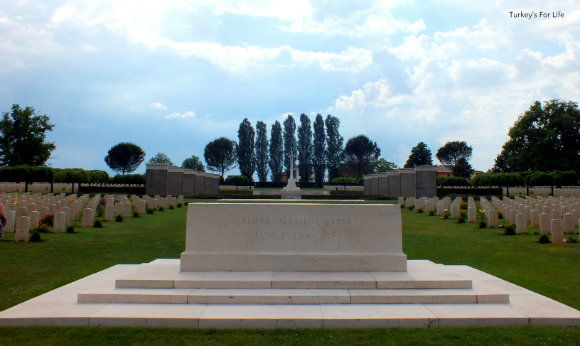 Entering Monte Cassino War Cemetery In Italy