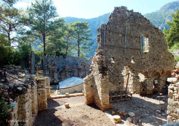 Byzantine Ruins, Olympos, Turkey