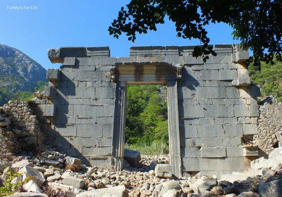 Temple Doorway At Olympos Ruins, Turkey