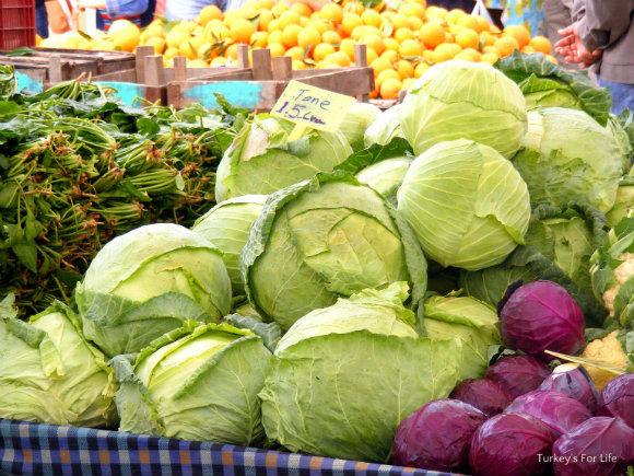 White Cabbage At Çalış Market
