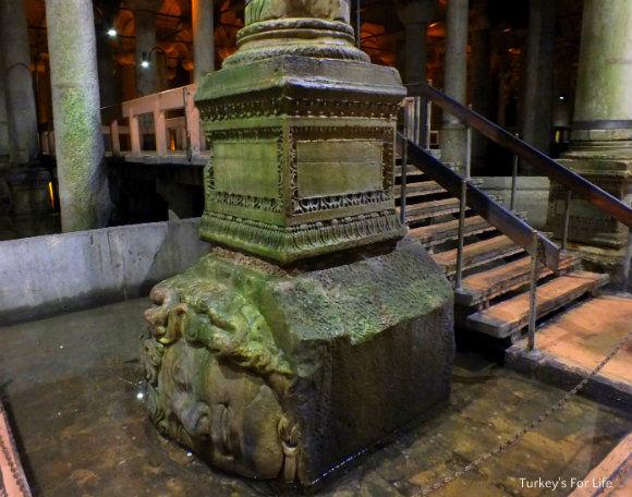 Sideways Medusa Head, Basilica Cistern