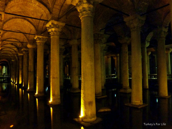Basilica Cistern, Columns, Sultanahmet