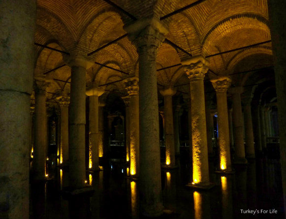 Symmetrical Columns At The Basilica Cistern, Istanbul