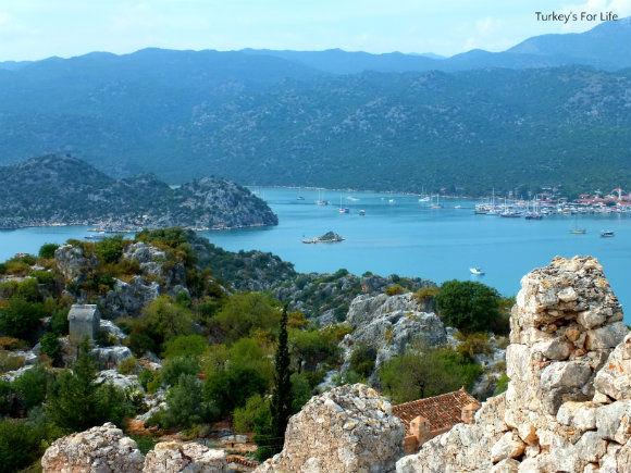 View Of Üçağız From Simena Castle