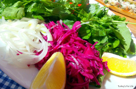 Salad At Lighthouse Pide And Pizza