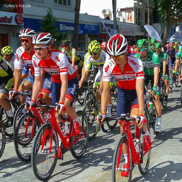 Fethiye Start Line Of The Tour Of Turkey