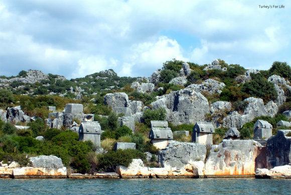 Üçağız Lycian Rock Tombs