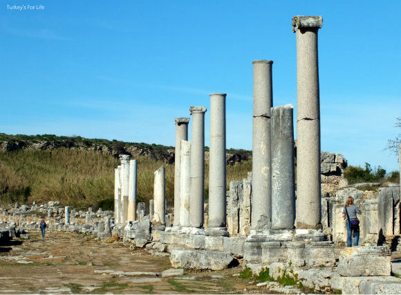 Colonnaded Street At Perge