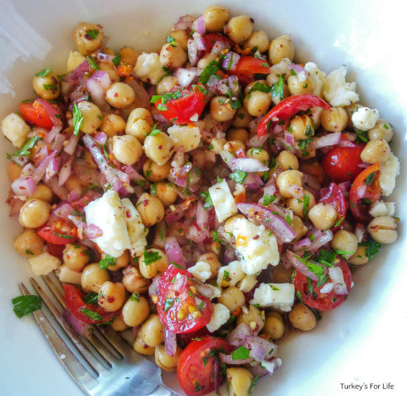 A Mixed Chickpea Salad