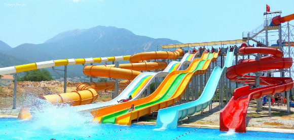 Slides At Ölüdeniz Water World Aquapark