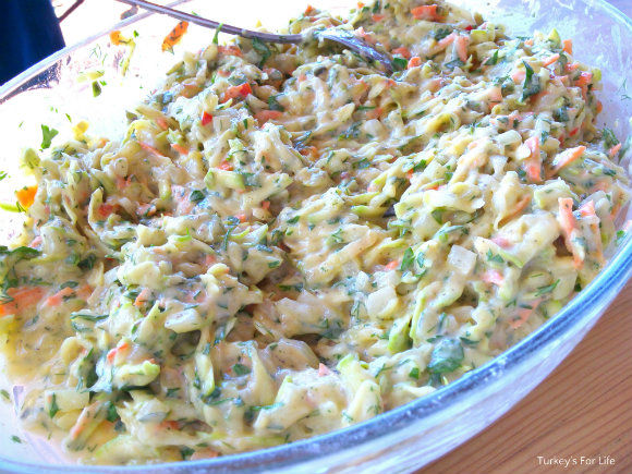 Turkish Potato and Courgette Oven Baked Fritters Mixture