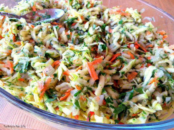 Preparing Turkish Oven Baked Potato And Courgette Fritters