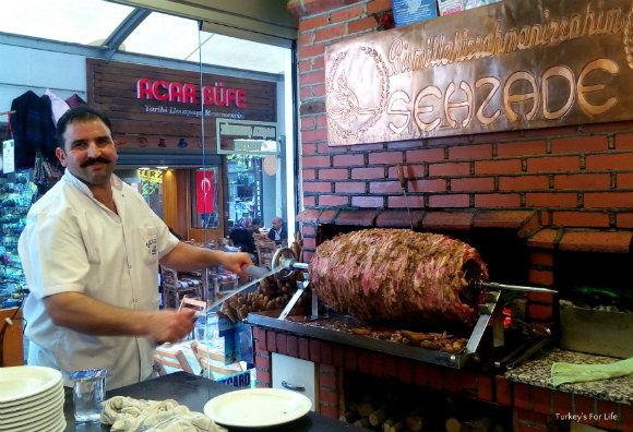 cag kebabi sehzade istanbul turkey